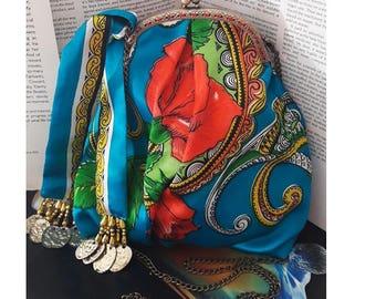 Rose vintage scarf bag