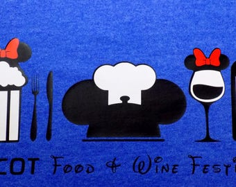 HTV Iron-On - EPCOT Food & Wine Festival with Ears (Minnie)