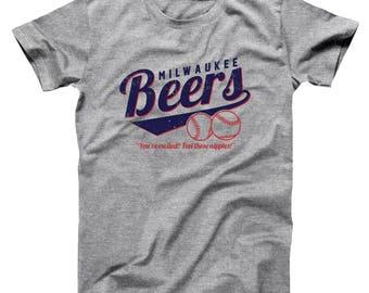 Milwaukee Beers Funny Humor Baseketball Costume Team Basic Men's T-Shirt DT1963