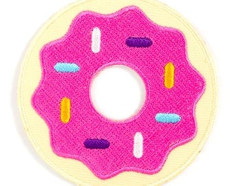 Donut Embroidered Iron-On Patch