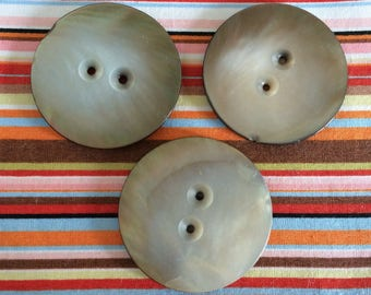 Vintage Mother of Pearl Buttons 44mm