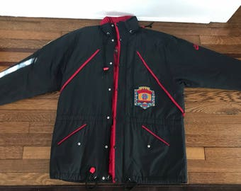 RARE Vintage Air Jordan Black Parka - Medium