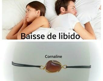 """The libido drop"" Bracelet: carnelian"