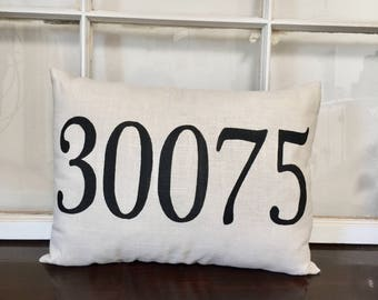 Zip Code 12x16 Lumbar Pillow
