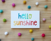 hello sunshine 6x9 inches wood sign