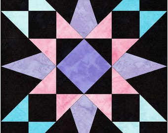 HC Explosive 10 Inch Paper Piece Foundation Quilting Block Pattern PDF