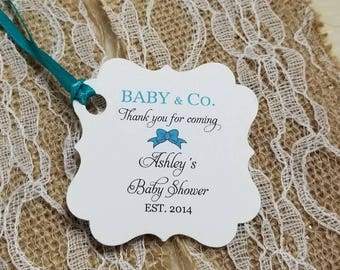 """Personalized Favor Tags 2x2"""", Bridal Shower tags, Thank You tags, Favor tags, Gift tags, tiffany baby Shower, tiffany bridal Shower"""