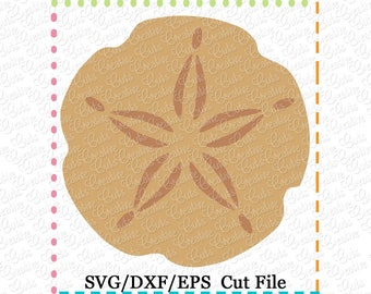 Sand dollar SVG eps  DXF Cutting File, shell svg, shell cut file, beach cutting file, beach svg, shells frame svg, sand dollar cutting file