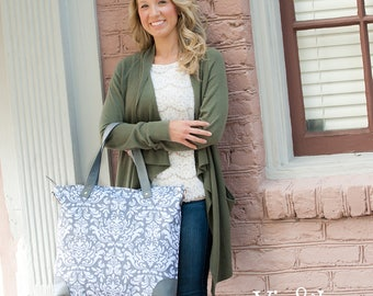 Ella Gray Collection - Weekender, Shoulder Bag, Zip Pouch - Price Includes Personalization