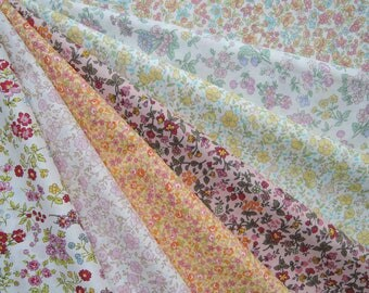 """Bundle of 1/8 Lawn Fabric From Japan.  Approx. 9"""" x 21"""" Made in Japan"""