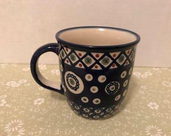 Boleslawiec Polish Stoneware Pottery Mug