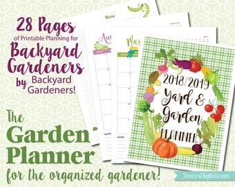 The Backyard Garden Planner - Instant Download - Printable PDF