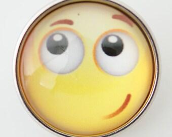 KB2894  Art Glass Print Chunk - Sweet Smiley