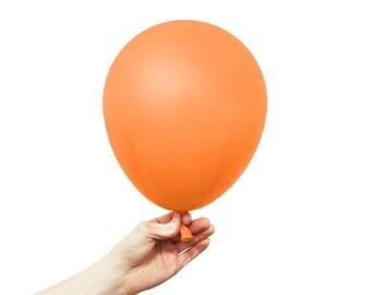 """Orange Balloons - 11"""" Latex Standard Balloon - 5 Balloons"""