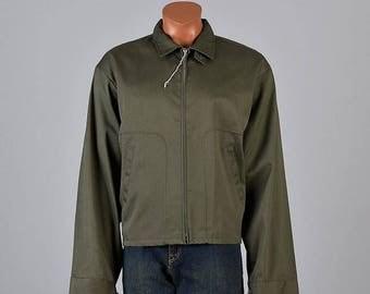 SALE 52 #XL Deadstock Jacket 50s Jacket Mens Jacket Windbreaker Jacket Vintage 50s Olive Green Jacket Lightweight Jacket Mid Century Jacket
