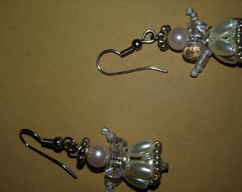 Angel earrings. Beautiful small earrings. Christmas gift.
