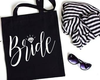 Bride tote, Wedding Party Tote, Wedding Party Gift, Tote Bag, Wedding Gift, Personalized Tote, Bridal Party Tote