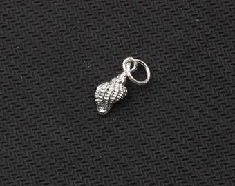 16mm Sterling Silver Small Sea Snail Pendants -- 925 Silver Charms Wholesale For Bridesmaid Gift Party XXSP-S0414,YHA