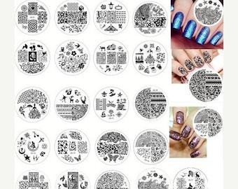 On Sale nail stamping plate series JQ-28 to JQ-50  Nail Art