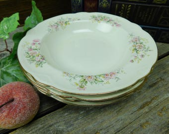 Set of 4 Vintage 1940's Homer Laughlin Daisy Soup Salad Bowls