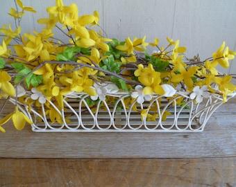 White Wire Basket Planter Nursery Decor