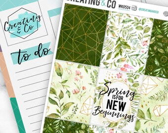 Hello Spring Weekly Planner Kit for No-White Space and White Space Planners  - WK05