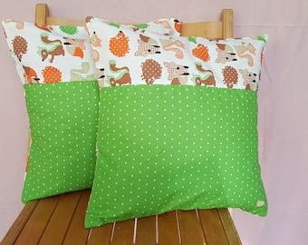 2 set cushion covers, kids, animals