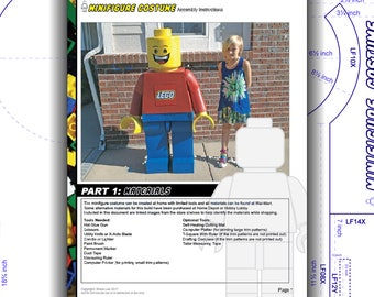 Tutorial: LEGO Child Costume Minifigure. DIY patterns and instructions PDF. Easily build a highly accurate replica. Instant download