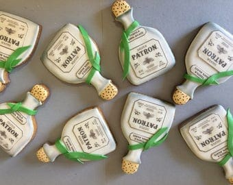 Patron bottle cookies