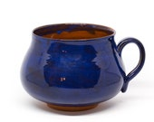 Handmade pottery mug. Blue pottery cup Coffee cup Big pottery mug Ceramic mug Ceramic blue mug Gift for her For home dishes Bright mug