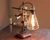 Industrial science gift lamp decor chemistry cool apothecary desk lighting antique laboratory biology reclaimed unique scientist chic