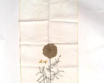 Vintage 1960s Vera Neumann MCM Napkin or Handkerchief with Ladybug