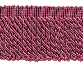 2.5 Inch Cranberry Bullion Fringe Trim, Style# Ef25 Color Deep Red - E11, Sold By The Yard
