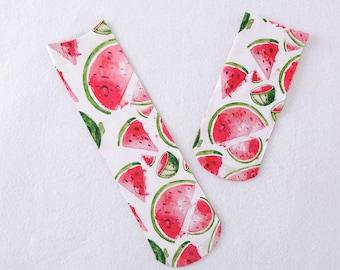 Watermelon socks.Watermelon