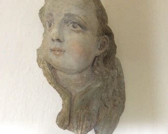 Plaster angel wall hanging