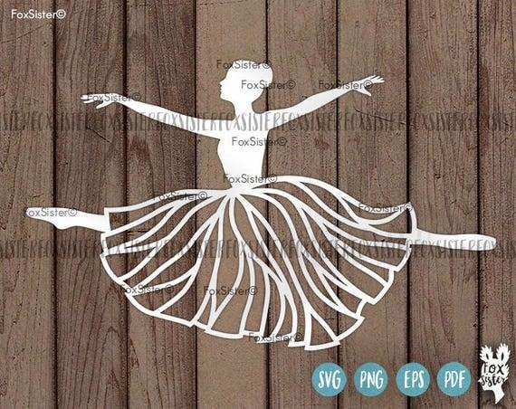 Ballerina Svg Papercut Template Ballet Dancer Svg Cut File