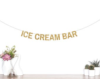 Ice Cream Bar Banner, Ice Cream Party, Ice Cream First Birthday, Popsicle Party, Pool Party, Sundae Bar, Ice Cream Decorations, Bar Sign