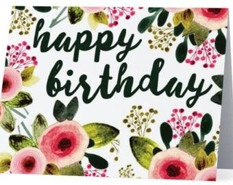 Greeting Card: 'Happy Birthday'
