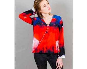 New! Collection red and blue tunic