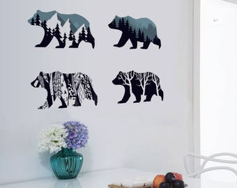 Polar Bears - Wall Stickers Decals - AW92008