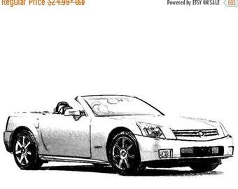 40% OFF Sale Cadillac XLR Drawing T shirt