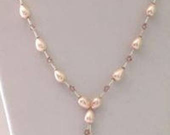 Blush Teardrop Shell Pearls