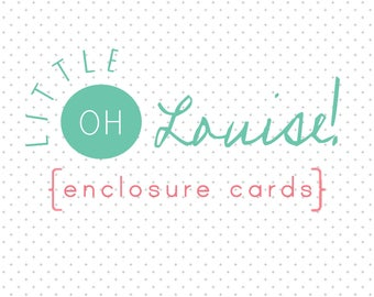 Gift Enclosure Cards - Personalized