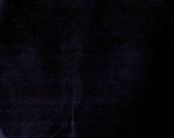 Fabric - Stretch needlecord -  darkest navy - woven fabric with stretch.