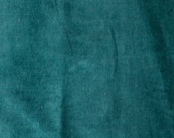 Fabric - Stretch needlecord -  teal - woven fabric with stretch.