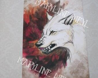 map postcard White Wolf