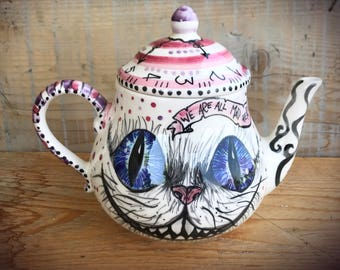 alice in wonderland teapot,woodland tea time made to order