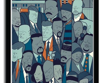 Affiche the wire par Ale Giorgini
