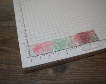 36 inch Washi Tape Sample - Pink and Green Soft Floral