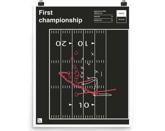 Broncos Football Poster: First championship (1998)